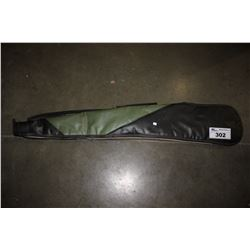 GREEN LEATHER RIFLE CASE