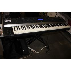 KURZWEIL ARTIS KEYBOARD WITH SPEAKERS, STAND AND CARRY CASE