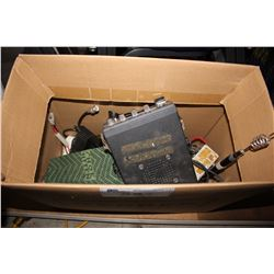 BOX OF ASSORTED RADIOS AND PARTS INCLUDING REALISTIC AND MORE