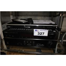 YAMAHA NATURAL SOUND AV RECEIVER RX-V475 AND TOSHIBA DVD PLAYER