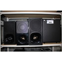 3 SONY AND 1 SAMSUNG SUBWOOFER
