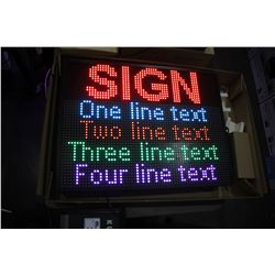 "26"" X 20"" PROGRAMMABLE SCROLLING LED MESSAGE BOARD (MULTI-COLOR)"