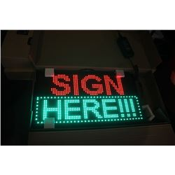 "26"" X 13.5"" PROGRAMMABLE SCROLLING LED MESSAGE BOARD (RED/GREEN)"