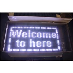 "26"" X 13.5"" PROGRAMMABLE SCROLLING LED MESSAGE BOARD (WHITE)"