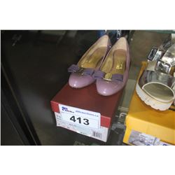 PURPLE SALVATORE FERRAGAMO FLATS - SIZE 5.5