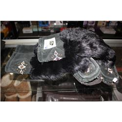 BLACK FUR TRIM LAURENTIAN CHIEF CANADA BOOTS