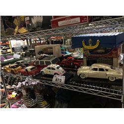 SHELF OF VINTAGE MODEL CARS