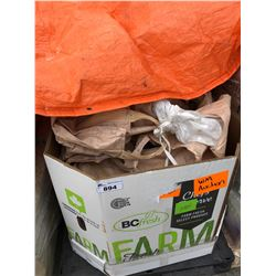 PALLET OF FANS, TABLES, MOPS AND MORE