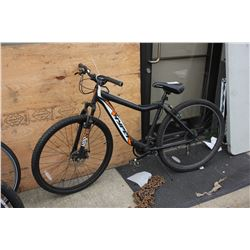 BLACK ALUMINUM HYPER 21-SPEED MOUNTAIN BIKE WITH FRONT DISC BRAKES