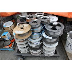 PALLET OF ASSORTED WIRE SPOOLS WITH WIRE