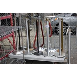 LOT OF 10 ASSORTED STANCHIONS