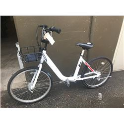 WHITE BICYCLE WITH BASKET