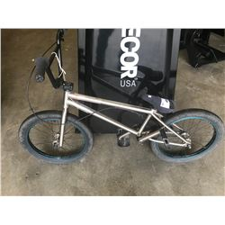 SILVER UNKNOWN BMX BIKE