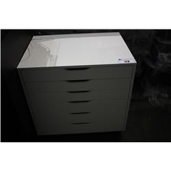WHITE ROLLING STORAGE UNIT