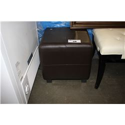 BROWN PADDED STOOL