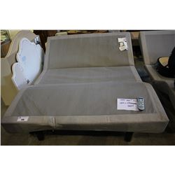QUEEN TEMPUR-PEDIC TEMPUR-ERGO PREMIERE ELECTRIC ADJUSTABLE BED WITH REMOTE - HEAD DOESN'T MOVE,