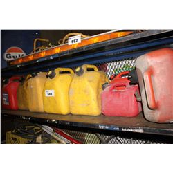 LOT OF 8 ASSORTED JERRY CANS