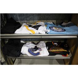 COLLECTION OF HOCKEY JERSEYS (1 VINTAGE VANCOUVER CANUCKS, 1 CANUCKS, 2 PITTSBURGH PENGUINS) AND