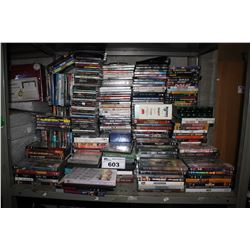 LARGE COLLECTION OF ASSORTED DVD'S, CD'S AND BLU-RAYS