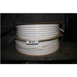 TWO SPOOLS OF WHITE FOAM CABLE PROTECTANT