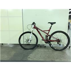 RED DEVINCI ATLAS FULL SUSPENSION MOUNTAIN BIKE