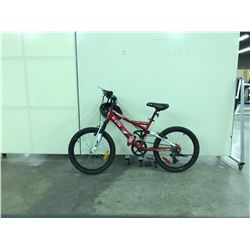 RED CCM VANDAL FULL SUSPENSION KIDS MOUNTAIN BIKE