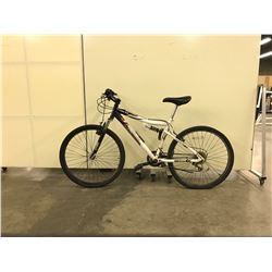WHITE NAKAMURA FULL SUSPENSION 21 SPEED MOUNTAIN BIKE