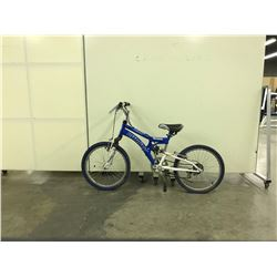 BLUE INFINITY JEEP FRONT SUSPENSION 8 SPEED KIDS BIKE