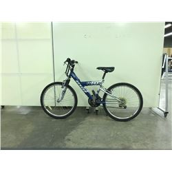 BLUE DUNLOP 747 FRONT SUSPENSION 18 SPEED MOUNTAIN BIKE