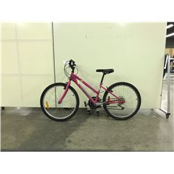 PINK TRIUMPH 18 SPEED MOUNTAIN BIKE