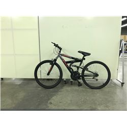 BLACK TRIBAL BIONIC FULL SUSPENSION 18 SPEED MOUNTAIN BIKE