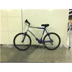 SILVER AND BLUE TREK FRONT SUSPENSION 21 SPEED MOUNTAIN BIKE