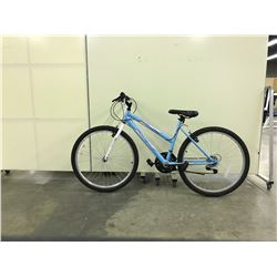 LIGHT BLUE HUFFY 18 SPEED MOUNTAIN BIKE
