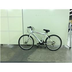 WHITE ARASHI 18 SPEED MOUNTAIN BIKE