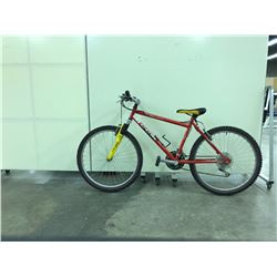 RED CCM HEAT FRONT SUSPENSION 18 SPEED MOUNTAIN BIKE