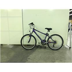 PURPLE INFINITY FRONT SUSPENSION 18 SPEED MOUNTAIN BIKE