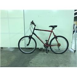 RED NORCO PINNACLE FRONT SUSPENSION 18 SPEED MOUNTAIN BIKE