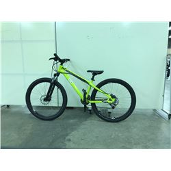 LIME GREEN SPECIALIZED FRONT SUSPENSION 14 SPEED MOUNTAIN BIKE