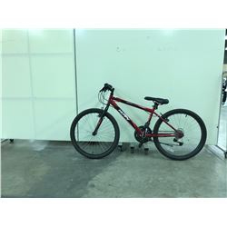 RED HUFFY 18 SPEED SMALL FRAME MOUNTAIN BIKE