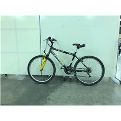 BLACK AND YELLOW DUNLOP 777 FRONT SUSPENSION 21 SPEED MOUNTAIN BIKE
