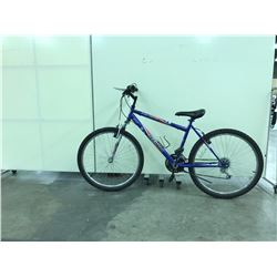 BLUE TECHPRO FRONT SUSPENSION 18 SPEED MOUNTAIN BIKE