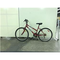 RED SUPERCYCLE 18 SPEED LADIES MOUNTAIN BIKE