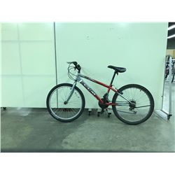 RED AND SILVER CCM REBEL 21 SPEED MOUNTAIN BIKE