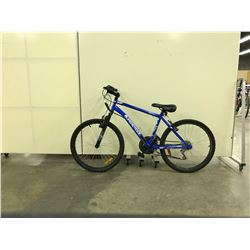 BLUE SUPERCYCLE 18 SPEED FRONT SUSPENSION MOUNTAIN BIKE