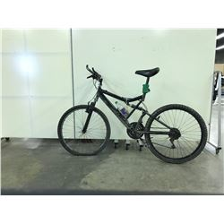 BLACK NO NAME FULL SUSPENSION 21 SPEED MOUNTAIN BIKE