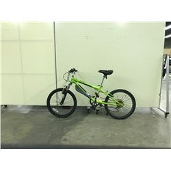 LIME GREEN JUVY FRONT SUSPENSION 6 SPEED KIDS BIKE