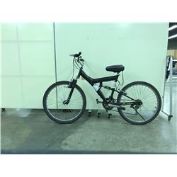 BLACK NO NAME FULL SUSPENSION 18 SPEED MOUNTAIN BIKE