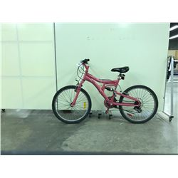 PINK NO NAME FULL SUSPENSION 21 SPEED MOUNTAIN BIKE
