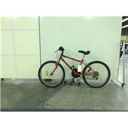 RED RALEIGH TRACKER 18 SPEED KIDS MOUNTAIN BIKE