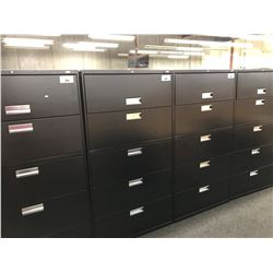 BLACK HON 5 DRAWER LATERAL FILE CABINET